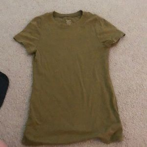Jcrew fitted tee green size medium